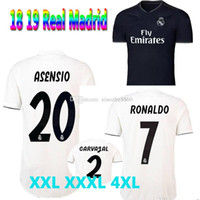 Wholesale shirts large - XXL XXXL 4XL 2018 2019 adult Real madrid Large Size soccer Jerseys 18 19 RONALDO ASENSIO BALE RAMOS ISCO MODRIC football shirtS Thailand