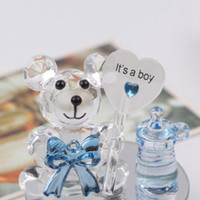 Wholesale baby shower giveaways gifts resale online - Crystal Bear Nipple Baptism Baby Shower Souvenirs Party Christening Giveaway Gift and Gifts For Guests