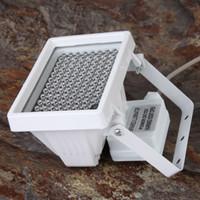 kamera için kızılötesi aydınlatıcı toptan satış-12 V 96 LED Gelişmiş Gece Görüş IR Kızılötesi Aydınlatıcı Doldurun Işık Lamba Flaş CCTV Kamera için 360 Derece Paranormal Hayalet Avcılık Ekipmanları