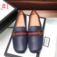 Wholesale loafer moccasin flat shoes resale online - Men s Casual Shoes luxury Leather Breathable Flat Shoes Comfortable Loafers Leather Driving Moccasins Slip on Shoes Men