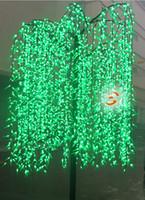 ingrosso alberi artificiali all'aperto-Led Albero di Pialla Artificiale Luce Esterna Uso 3m / 9.8ft Altezza 2304pcs LED Impermeabile Decorazione natalizia Albero Impermeabile Lampada