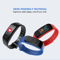 Wholesale oxygen monitor ce resale online - Smart Band Fitness Tracker CE Rohs Smart Bracelet C1 Plus With Blood Pressure and heart rate monitor