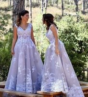 Wholesale formal africa dresses for sale - Arabic Lace Prom Dresses Long V Neck A Line South Africa Formal Maid Of Honor Bridesmaid Dress Custom Made Princess Bridal Guest Gown