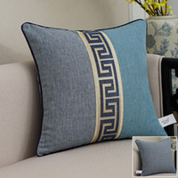 bel ayı yastığı tampon kapakları toptan satış-Çin Dantel Pamuk Keten Yastık Örtüsü Kanepe Sandalye Dekoratif Vintage Lomber Yastık Klasik arkalığı Yastık Kılıfı Kapakları