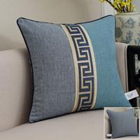 sofá vintage clássico venda por atacado-Rendas chinesas de Algodão de Linho Capa de Almofada Do Sofá Cadeira Decorativa Do Vintage Lombar Travesseiro Covers clássico encosto Fronha