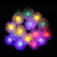 Discount lanterns for outdoor party - 50 LED Pendant LED solar lamp string Lights Decoration For Christmas Tree Party Outdoor Garden Patio Lantern 7m