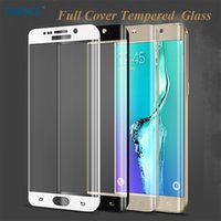 голубая закаленная стеклянная галактика оптовых-For S 6 Edge S6 edge plus Full Cover Glass Tempered Film Screen Protector for Galaxy S6 G9250 Color blue