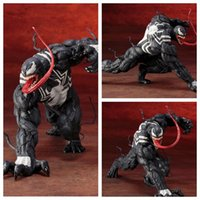 Wholesale painted statue - No Box The Amazing SpiderMan Homecoming Venom Carnage ARTFX + STATUE 1 10 Scale Pre-Painted Figure Model Brinquedos Gift