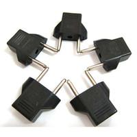 pino adaptador de corrente alternada venda por atacado-100 PÇS / LOTE 2018 Nova Chegada EUA Plug para Plugue DA UE Adaptador de Tomada De Energia AC Plug Adapter Padrão Adaptador Converter 2 Pin Conector Preto