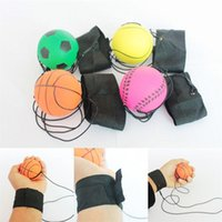 Wholesale sponge rubber balls - 63MM Sponge Rubber Ball Elastic Bouncy Wrist Band Balls For Adults Training Vent Anti Stress Toys New Arrival 25xq UU
