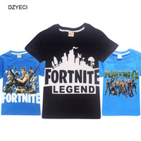Wholesale years boys red white clothes - Summer Kid Fortnite T shirt Clothes Fashion Tee For Kid Short Sleeve Print Cartoon Tank Children Cotton T Shirt Clothes Year