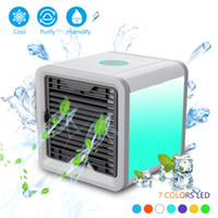 Wholesale led light paper - Top quality Cooling fan with LED Light Arctic Air Cooler Fan with 32 pieces of original filter paper, USB Cooling Conditioner Air Humidifier