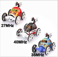 radio fcc al por mayor-Mini RC Stunt Car 360 Degree Rotación 4CH Radio Stunt Car Control Remoto Vehículo RC Stunt Cars 3-Colors 2152 Car Toy
