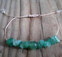 ingrosso pietra preziosa di giada verde-12pcs / lot braccialetto di pietra preziosa giada naturale verde giada minimalista guarigione buona fortuna karma braccialetto di perline di pietra di protezione