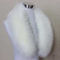 Wholesale fox fur stole wrap resale online - Hot Fashion Unisex Faux Fox Fur Collar Scarf Shawl Neck Men Women Wrap Stole Scarves Faux Raccoon Fur Winter Collar