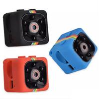 dalış maskesi video kamera toptan satış-SQ11 Mini kamera 1080 P Cep Güvenlik Kamera Küçük Spor Kameralar Taşınabilir Spor DV Hareket Algılama Gece Görüş Araba DVR Kamera Kaydedici