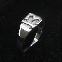 Wholesale lucky 13 rings resale online - 1pc Size Lady Girls Sterling Silver Number Ring Jewelry Newest S925 Fashion Lucky Ring
