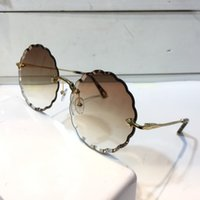 Wholesale sunglass for sale - Luxury Sunglass For Women Fashion Deisng CE142 Round Frameless UV400 Len Summer Style Adumbral Butterfly Designer Face Come With Case