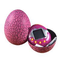 яйца оптовых-Тамагочи яйцо динозавра Виртуальный Кибер Цифровая игрушка для домашних животных Игрушка Тамагочи Цифровой электронный E-Pet Рождественский подарок 7 цветов