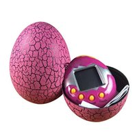 Wholesale Plastic Toy Birds - Tamagotchi Dinosaur egg Virtual Cyber Digital Pet Game Toy Tamagotchis Digital Electronic E-Pet Christmas Gift 7 Colors