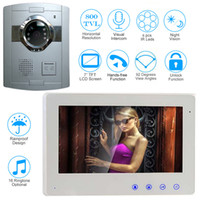 Wholesale Apartment Door Intercom - 7 inch Wired Video Door Phone Door Bell Intercom System Kit with Night Vision Outdoor Monitoring for Apartment