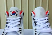 бесплатная доставка обувь корея оптовых-(С коробкой) Бесплатная доставка Корея Сеул обувь высокого качества человек белый красный обувь