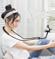универсальный держатель у кровати оптовых-Подвесной шейный кронштейн Creative прикроватный ленивый подвесной шейный кронштейн для мобильного телефона подвесной шейный держатель для мобильного телефона клип универсальный мобильный телефон