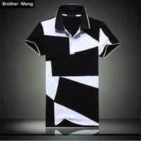 mode hommes slim court achat en gros de-Designer Polo Shirt Mode Homme Eté Nouveau S court en coton noir et blanc à manches courtes pour hommes-Polo à manches courtes Slim Men 5xl