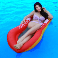 Wholesale recliner beds for sale - Summer Water Sports Hammock pool Inflatable Beach Lounger Backrest Recliner Floating Sleeping Bed Chair Cushion for kg Adults