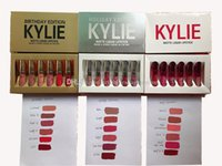 Wholesale retail gift packaging - DTC HOTS Kylie Jenner lip gloss Cosmetics Matte Lipstick Kylie Lips Matte Leo Kit Lip Birthday Limited Edition With Retail Package + Gift!!!