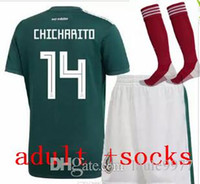 11416054308 18 19 World Cup Mexico adult kit+socks Soccer Jersey National Team  CHICHARITO GUARDADO HERRERA 18 19 World Cup G . DOS SANTOS Football shirt
