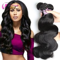 Wholesale Darker Black - XBL Body Wave Virgin Human Hair Extensions Brazilian 100 Human Hair Weave Peruvian Human Hair Bundles