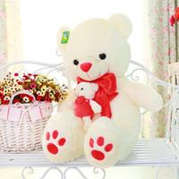 ce teddy großhandel-27,57 '' Riesen Riesige Kuscheltiere Plüsch Teddybär Spielzeug Puppe Kinderzimmer Wiege Dekor Kissen Geschenk für Kinder