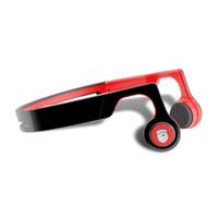 auriculares negros rojos al por mayor-GANSS Wireless Bluetooth Bone Conduction Headphones Sweatproof Auriculares deportivos con 5 Horas Play Time Auriculares con Mic Headset - Negro Rojo