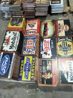 Wholesale metal signs home decor for sale - Group buy heron gtx eagle lengend champion Garage gasolin Motor Oil beer Retro rustic tin metal sign Wall Decor Vintage Tin Poster Cafe Shop Bar home