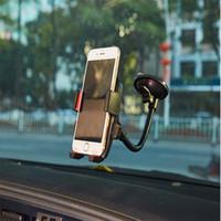 держатель чашки всасывания сотового телефона оптовых-Универсальный 360 градусов вращающийся присоске поворотное крепление лобовое стекло автомобиля держатель стенд Колыбель для сотового телефона / iPhone / iPad / КПК / MP3 / MP4 DHL 50 шт.