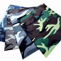 toalhas bordadas transporte gratuito venda por atacado-Fábrica de atacado ao ar livre camuflagem impressão lenço, lenço, lenço de algodão, turbante, 60 pcs / OPP, Frete Grátis