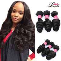 Wholesale Cheap Virgin Brazilian Hair Extensions - 8A Brazilian Virgin Hair Loose Wave Unprocessed Brazilian Human Hair Bundle Extension Cheap Brazilian Loose Wave Dyeable Machine Double Weft
