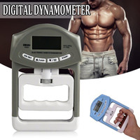 digitale leistungsmesser großhandel-90 kg / 198 Ib Digital LCD Dynamometer Handgriff Power Messung Bodybuilding Gym Übungen Mucle Gripper Stärke Meter