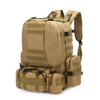 Wholesale kids backpacks hiking for sale - Group buy 4 In Multifunctional Military Tactical Backpack L D Oxford Camouflage Hiking Backpack Waterproof Sport Climbing Bag Kids Travel Bags