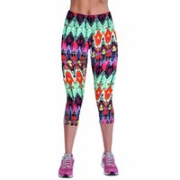 1a4b1149ac8 Summer Fitness Sportting Leggings Women Gothic Capri Leggings High Waist  Printed Cropped Legins Fitness Workout Casual Trousers