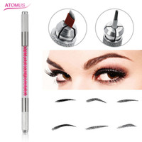 Wholesale Professional D Eyebrow Manual Tattoo Microblading Pen Machines For Eyebrow Embroidery Permanent Makeup Operation Pink Crystal
