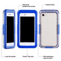 samsung mobiles yeni gelenler toptan satış-Yeni Varış IP68 Su Geçirmez Darbeye Dayanıklı Toz geçirmez Cep Telefonu Kılıfı için Samsung Galaxy S8 S8 Artı S9 S9plus iPhone 8 7 6 artı