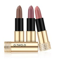 Wholesale orange lipstick matte for sale - Original O TWO O Brand Colors Matte Lipstick Matte Long Lasting Kissproof Waterproof Matte Lipsticks Make Up Lip Golden Series
