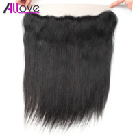 Wholesale hair human straight 1pc resale online - 8A Brazilian Virgin Hair Straight Lace Frontal PC Peruvain Straight Human Hair Frontal Closure Malaysian Straight Closure Indian Human Hair