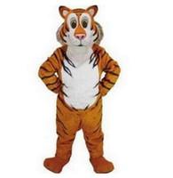 cartoon tigre grátis venda por atacado-Filhotes de animais tigre Traje Da Mascote Tamanho Adulto Personagem de Desenho Animado Carnaval Partido Outfit Suit Fancy Dress free shippingAdult