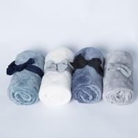 bebek atkı atmak toptan satış-70 * 100 cm Küçük Battaniye Flanel Polar Çocuklar Kareli Bebek Battaniye Havlu Seyahat Ofis Kanepe Örgü Atmak Mantas Para Yatak Örtüsü