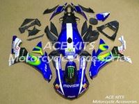 Wholesale abs motorcycle fairings sale resale online - 3 Free Gifts New motorcycle Fairings Kits For YAMAHA YZF R1 R1 YZF1000 bodywork hot sales loves Red B80 NO