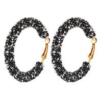 stiefel geformte reize großhandel-Europäische und amerikanische Mode Ohrringe Frauen einfache Persönlichkeit Retro übertrieben Ohrringe Kreis Kristall Ohrringe Schmuck Großhandel