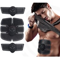 Wholesale waist supports resale online - Wireless Muscle Stimulator Smart Fitness Abdominal Training Device Electric Weight Loss Stickers Body Slimming Belt Unisex